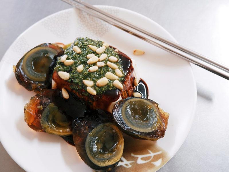 香椿ピータン豆腐