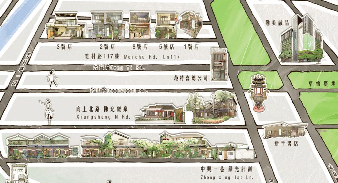 范特喜微創文化のリノベ建築マップ(提供:范特喜微創文化)