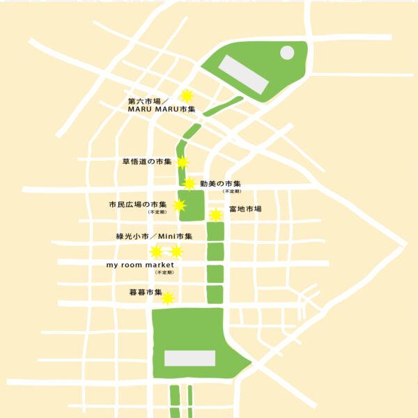草悟道 徒歩圏内のマーケットマップ(2021年上半期)
